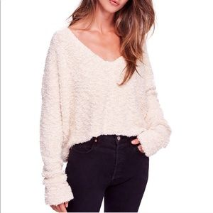 Free People Popcorn Crop Sweater || NWT